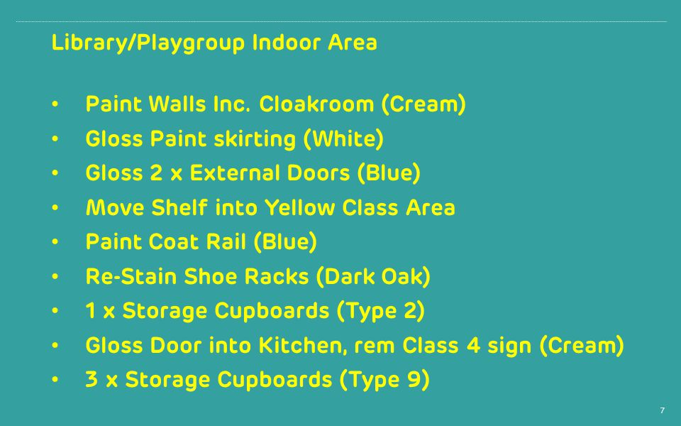 Library/Playgroup Indoor Area Paint Walls Inc.