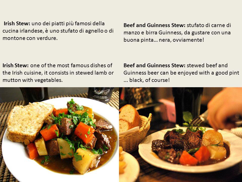 Beef and Guinness Stew: stufato di carne di manzo e birra Guinness, da gustare con una buona pinta… nera, ovviamente.