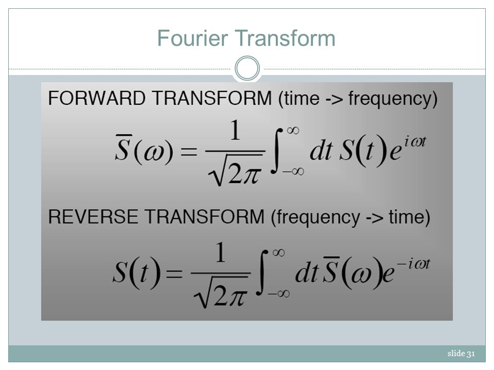 slide 31 Fourier Transform
