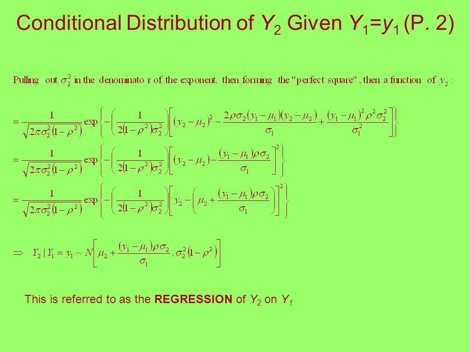 Conditional Distribution of Y 2 Given Y 1 =y 1 (P.