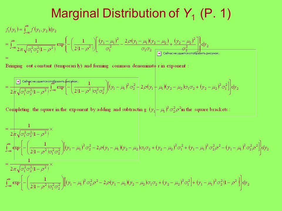 Marginal Distribution of Y 1 (P. 1)