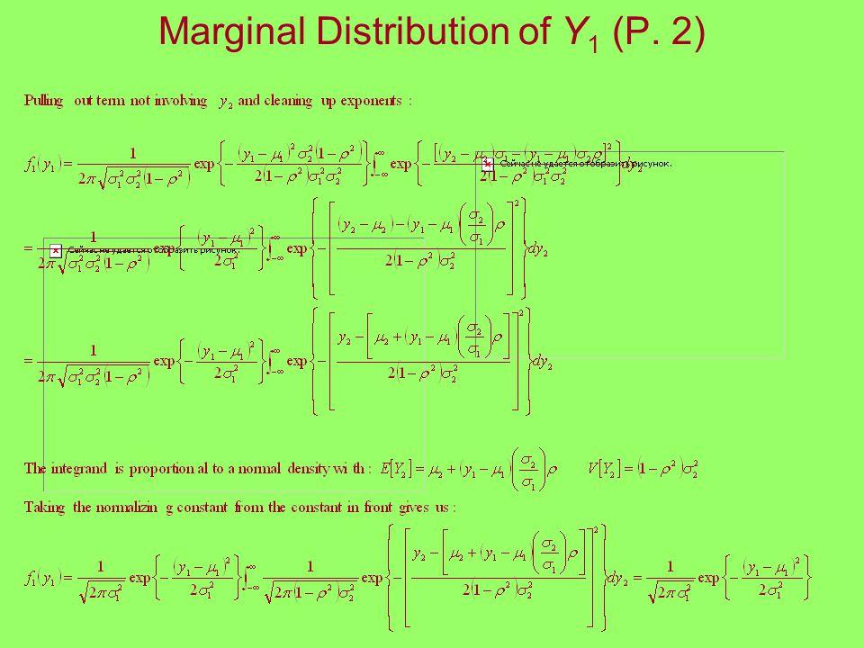 Marginal Distribution of Y 1 (P. 2)