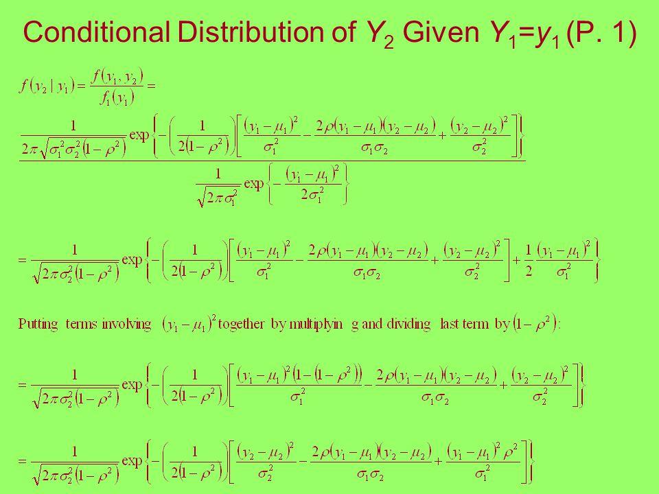 Conditional Distribution of Y 2 Given Y 1 =y 1 (P. 1)