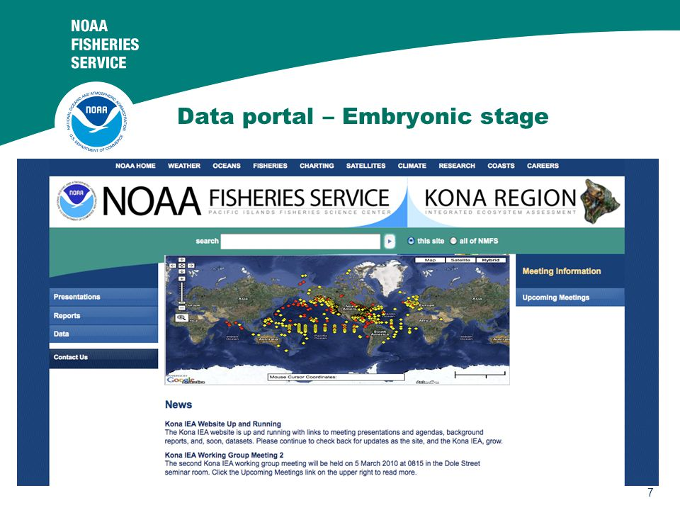 7 Data portal – Embryonic stage