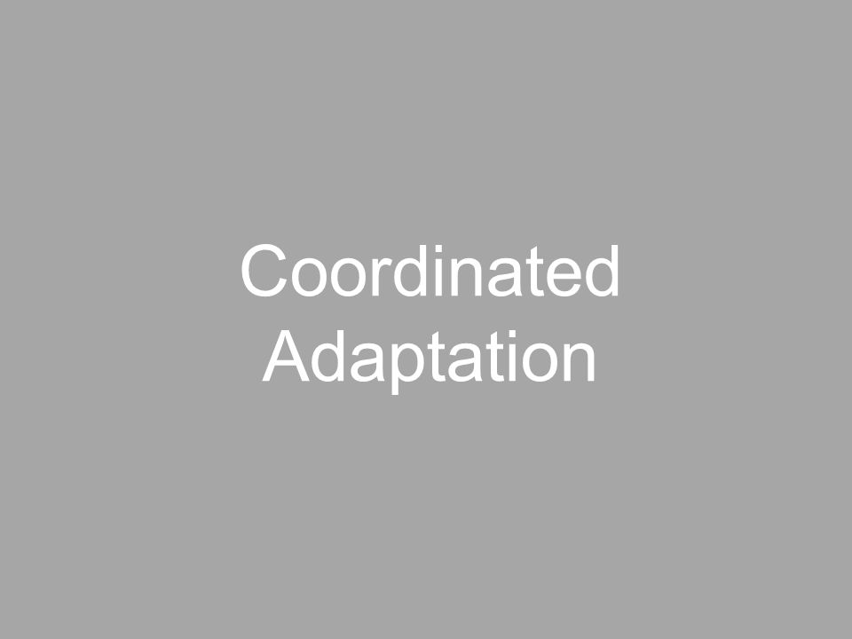 Coordinated Adaptation