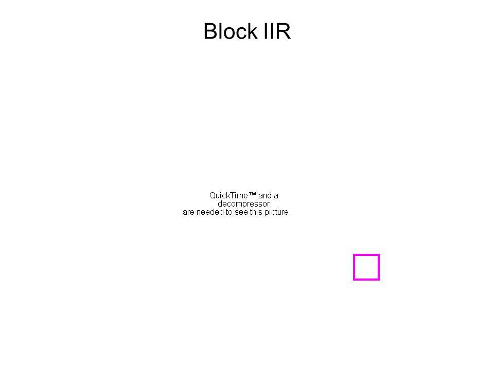 Block IIR