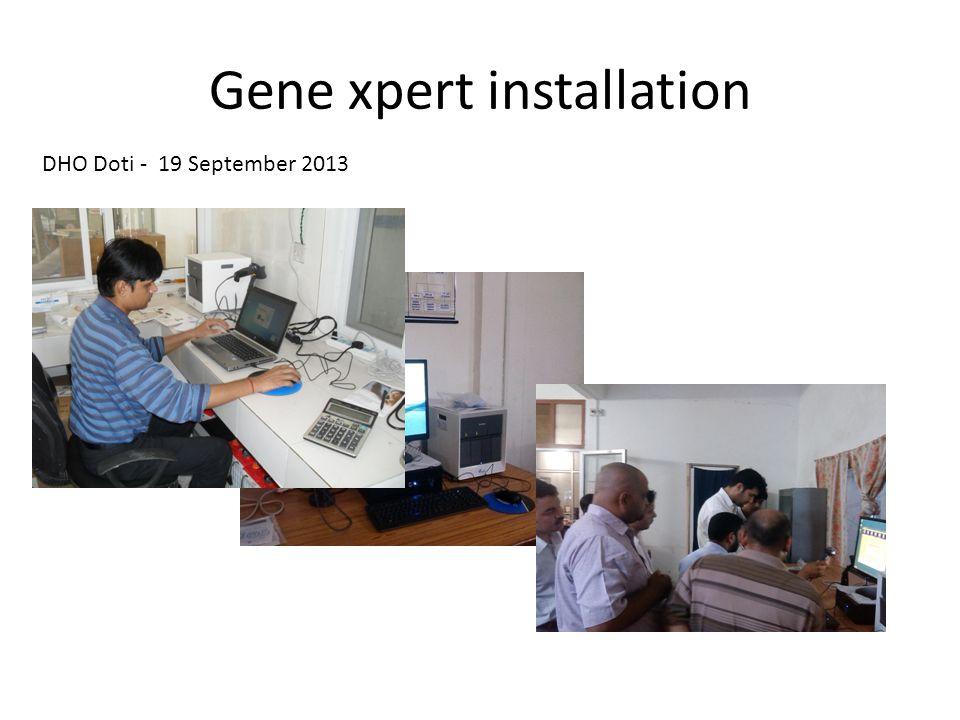 Gene xpert installation DHO Doti - 19 September 2013