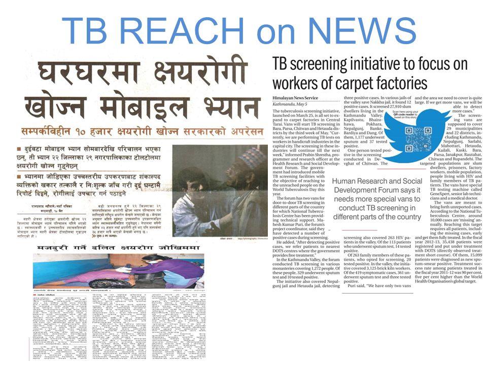 TB REACH on NEWS