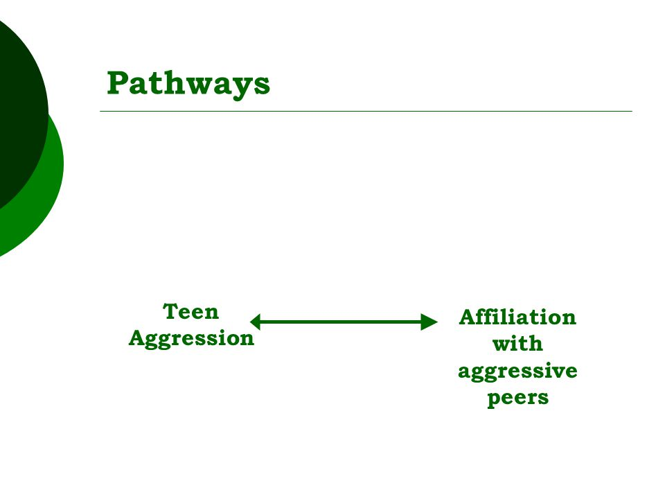 Pathways Teen Aggression Affiliation with aggressive peers