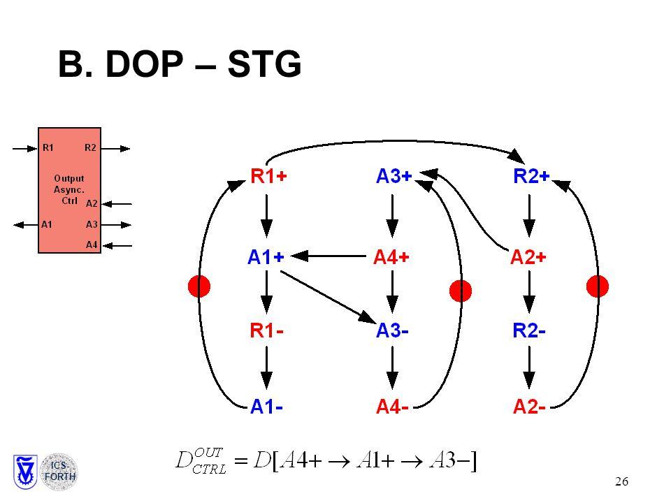 ICS- FORTH 26 B. DOP– STG