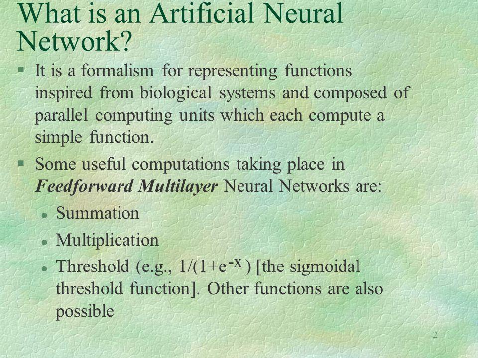 13 Backpropagation: The Algorithm 1.