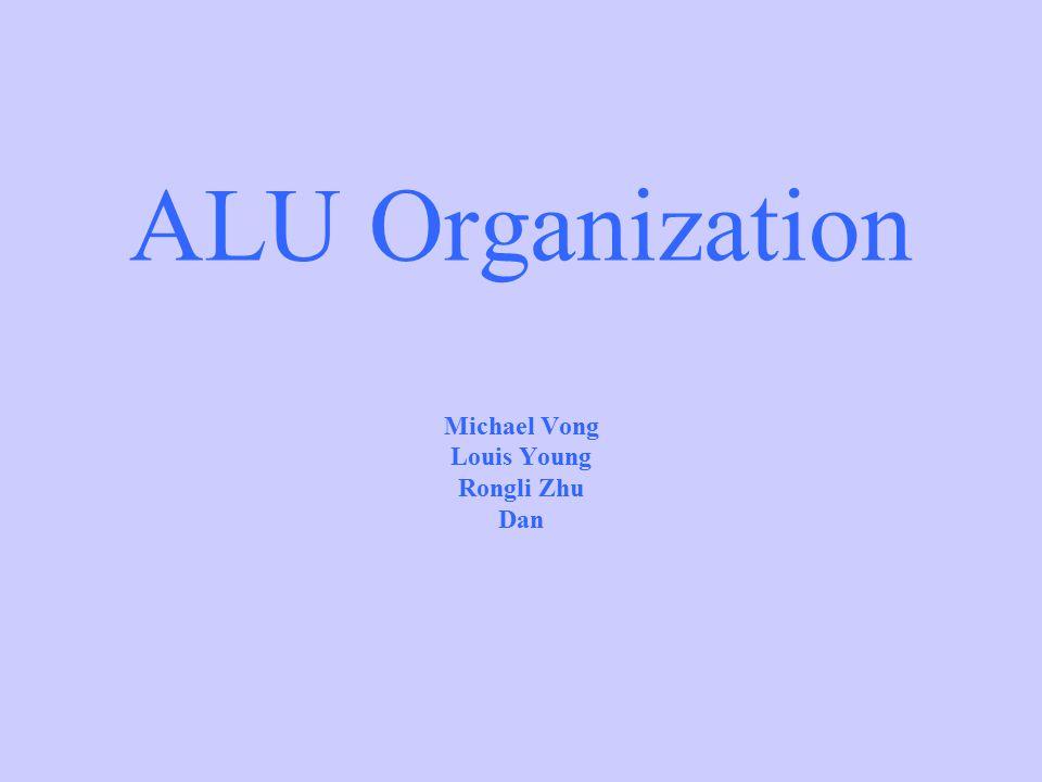 ALU Organization Michael Vong Louis Young Rongli Zhu Dan
