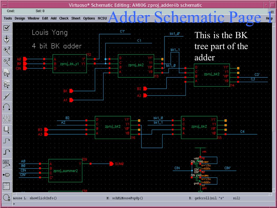 Adder Schematic Page 1 This is the BK tree part of the adder