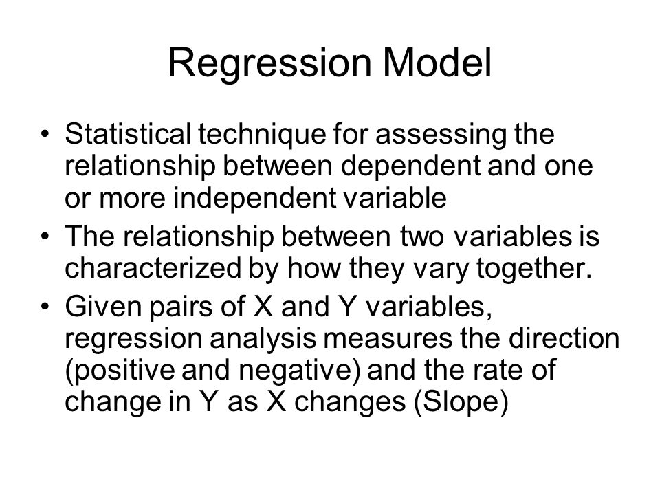 Simple Linear Regression Stats 101 SLR does is not a measure of association but linear relationship Absence of a significant association in SLR does n