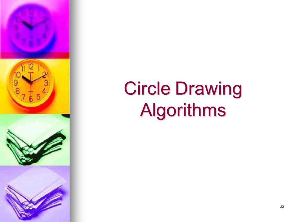 32 Circle Drawing Algorithms