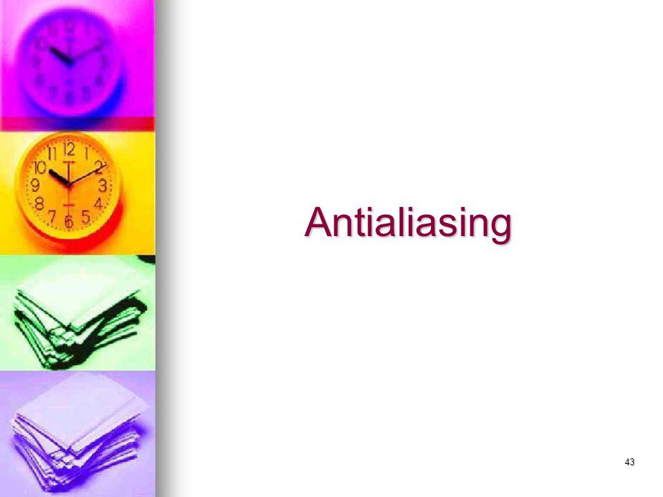 43 Antialiasing