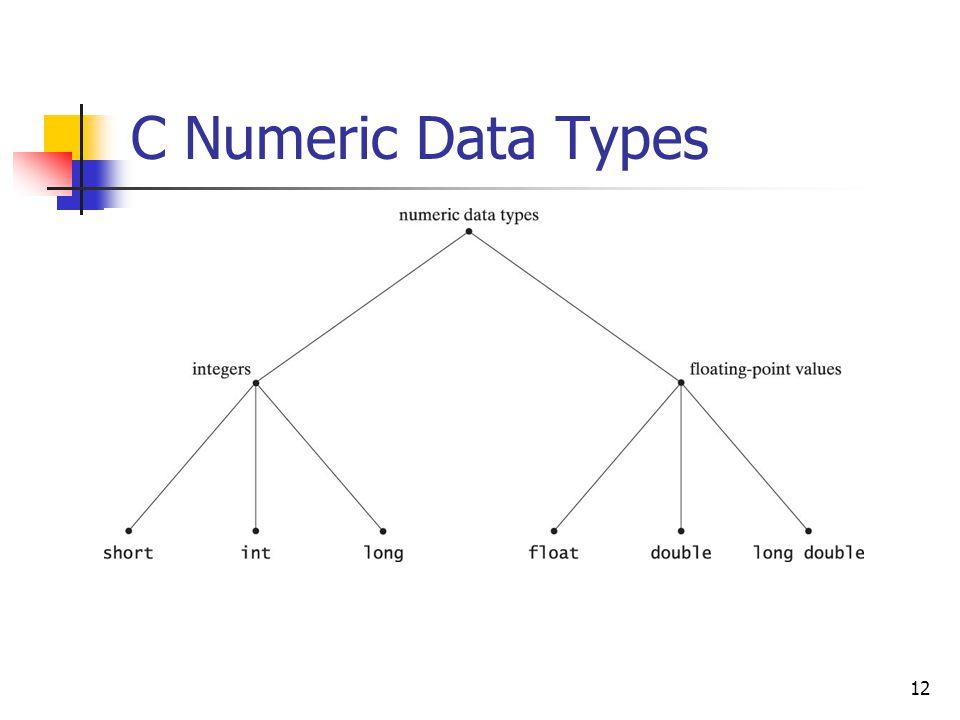 12 C Numeric Data Types