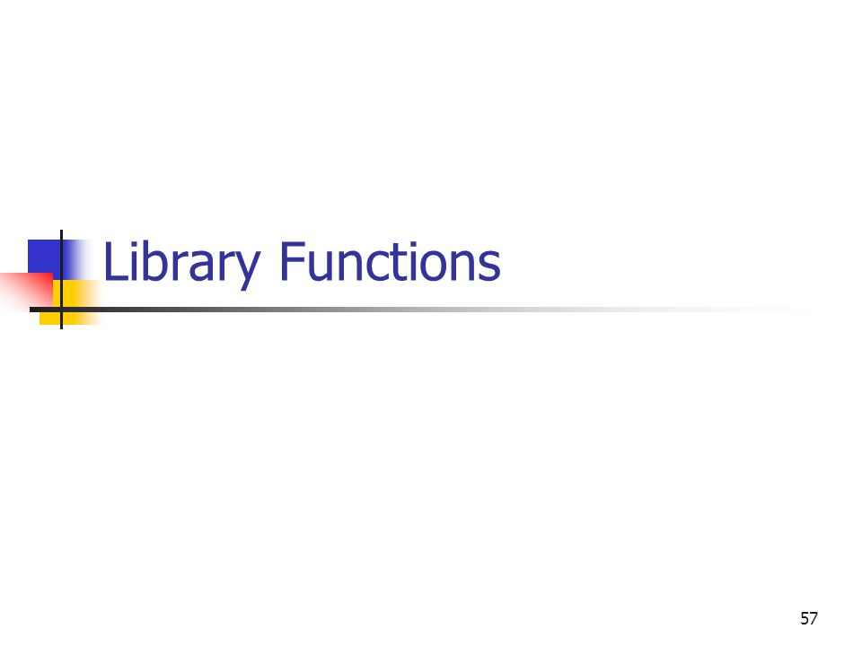 57 Library Functions
