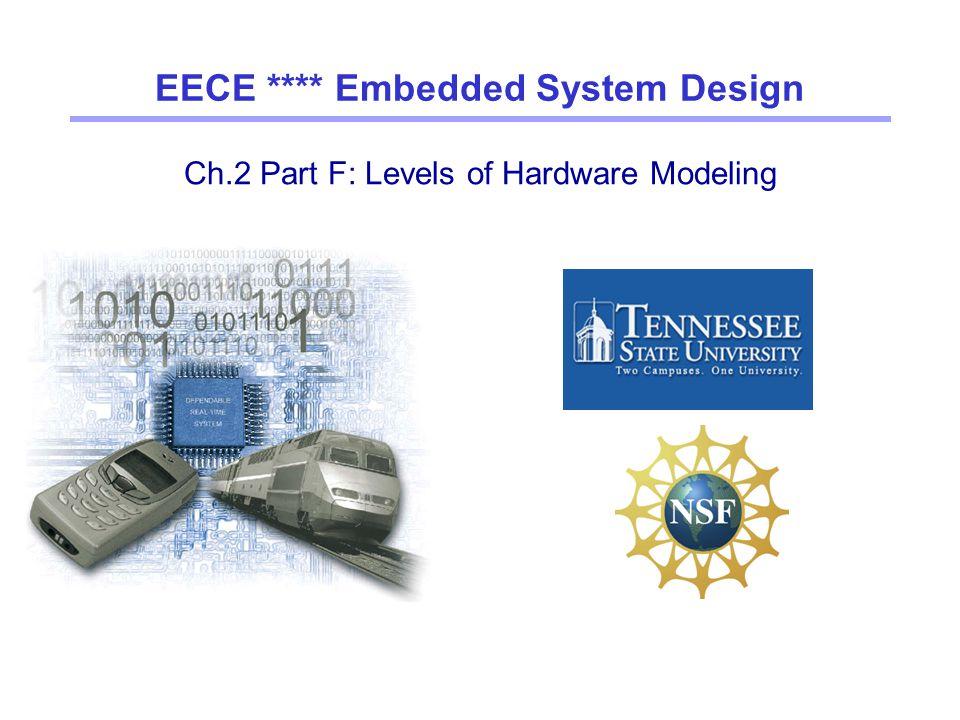 Ch.2 Part F: Levels of Hardware Modeling EECE **** Embedded System Design