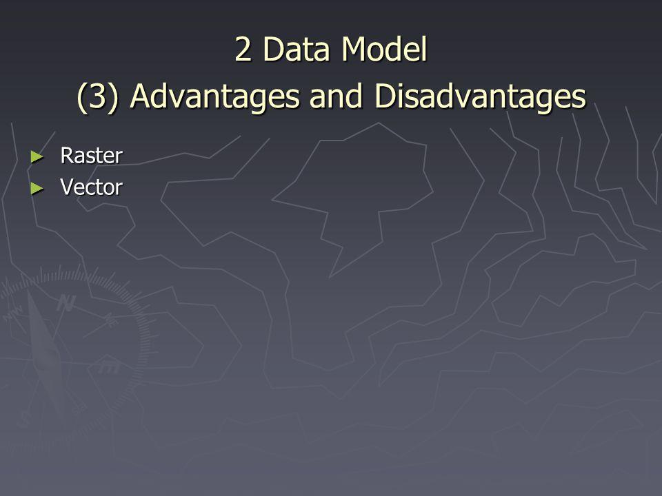 2 Data Model (3) Advantages and Disadvantages ► Raster ► Vector