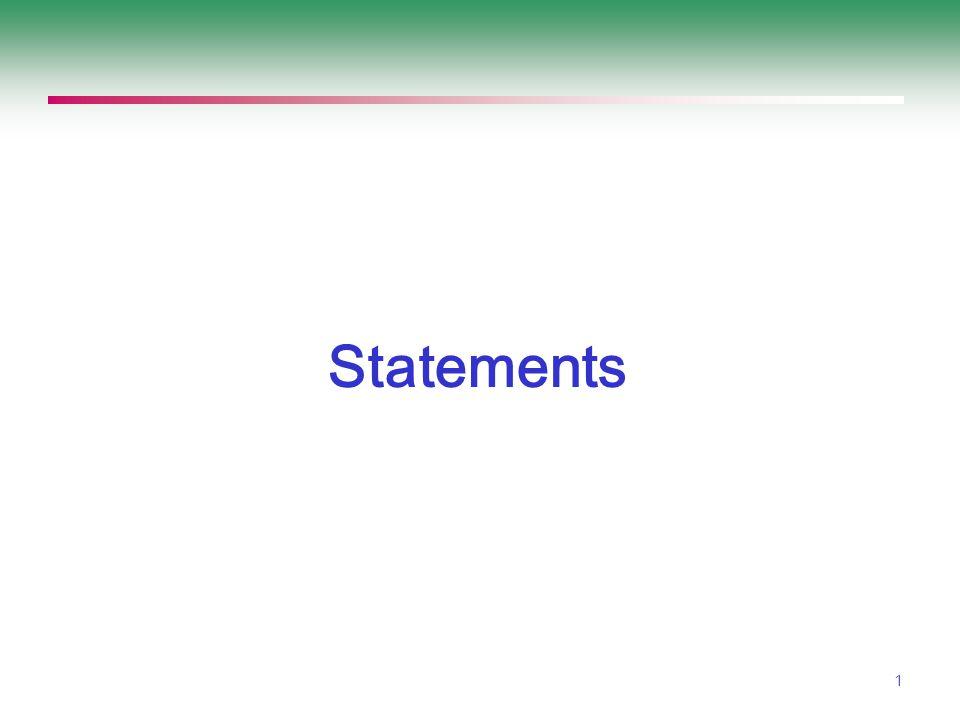 1 Statements