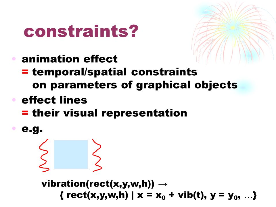 constraints.
