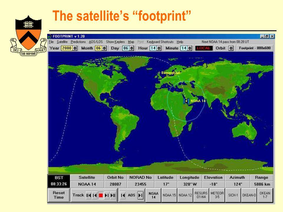 "The satellite's ""footprint"""