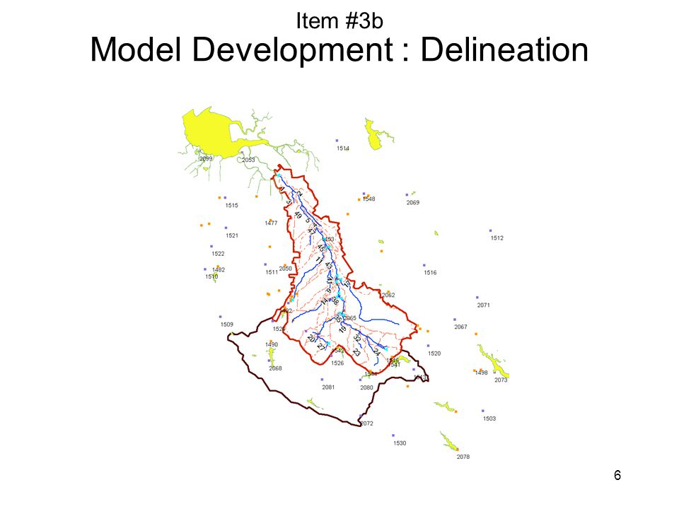 6 Model Development : Delineation Item #3b