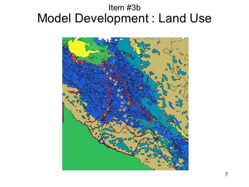 7 Model Development : Land Use Item #3b