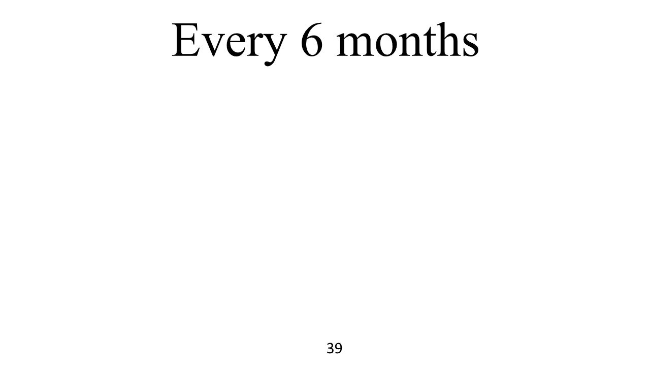 Every 6 months 39