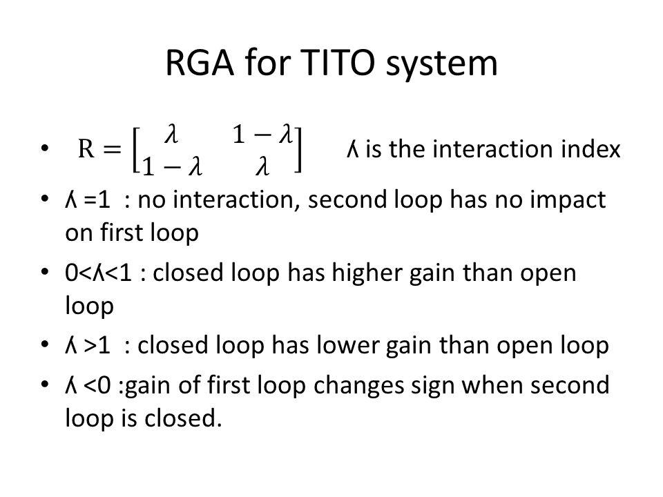 RGA for TITO system