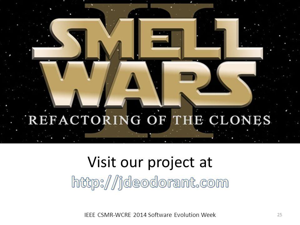 IEEE CSMR-WCRE 2014 Software Evolution Week 25