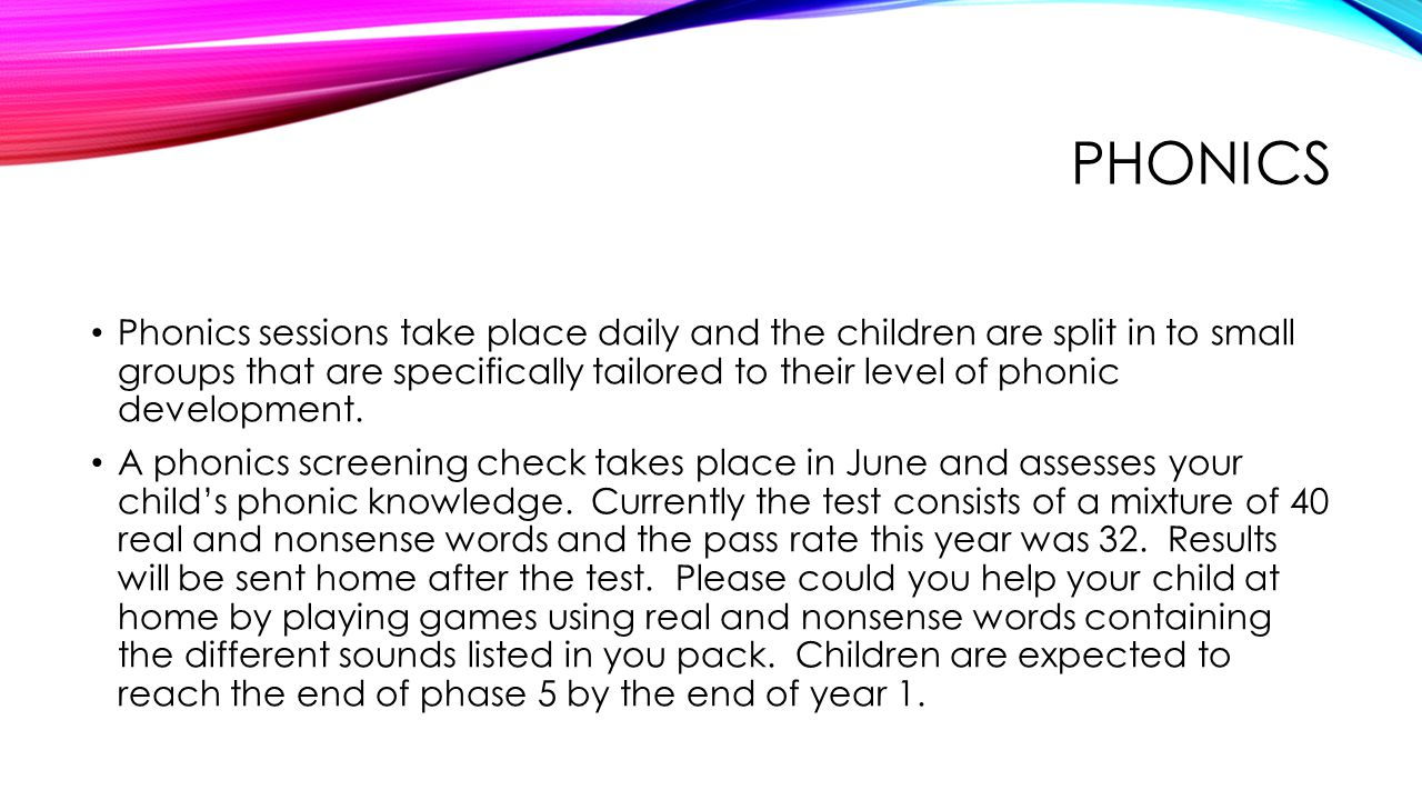 SPELLINGS Every Monday, your child will bring home a list of 5 spellings to learn.