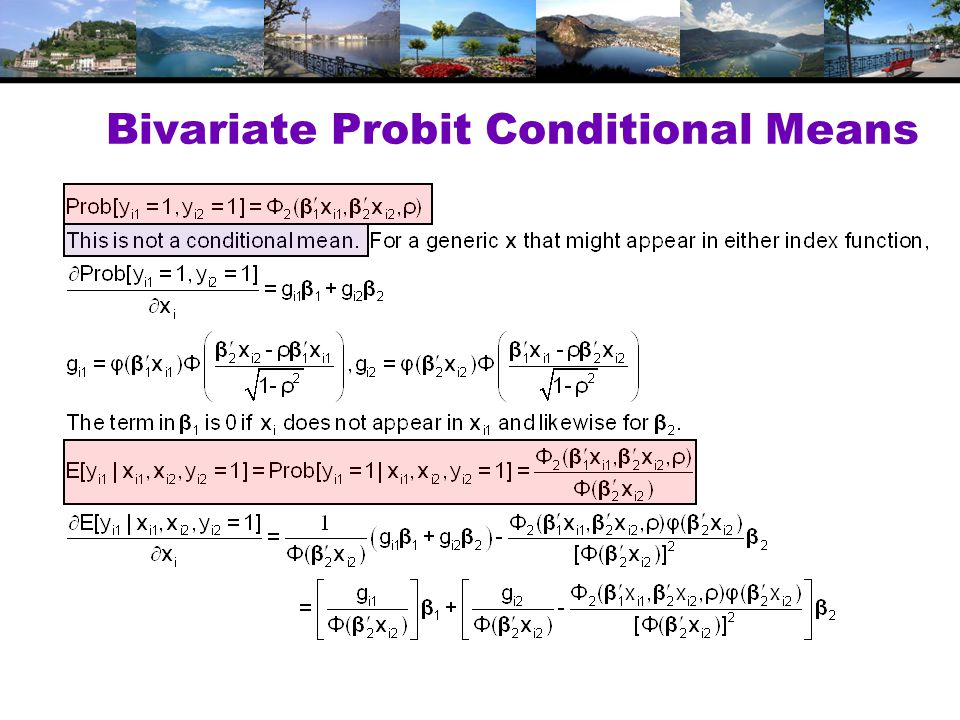 Bivariate Probit Conditional Means
