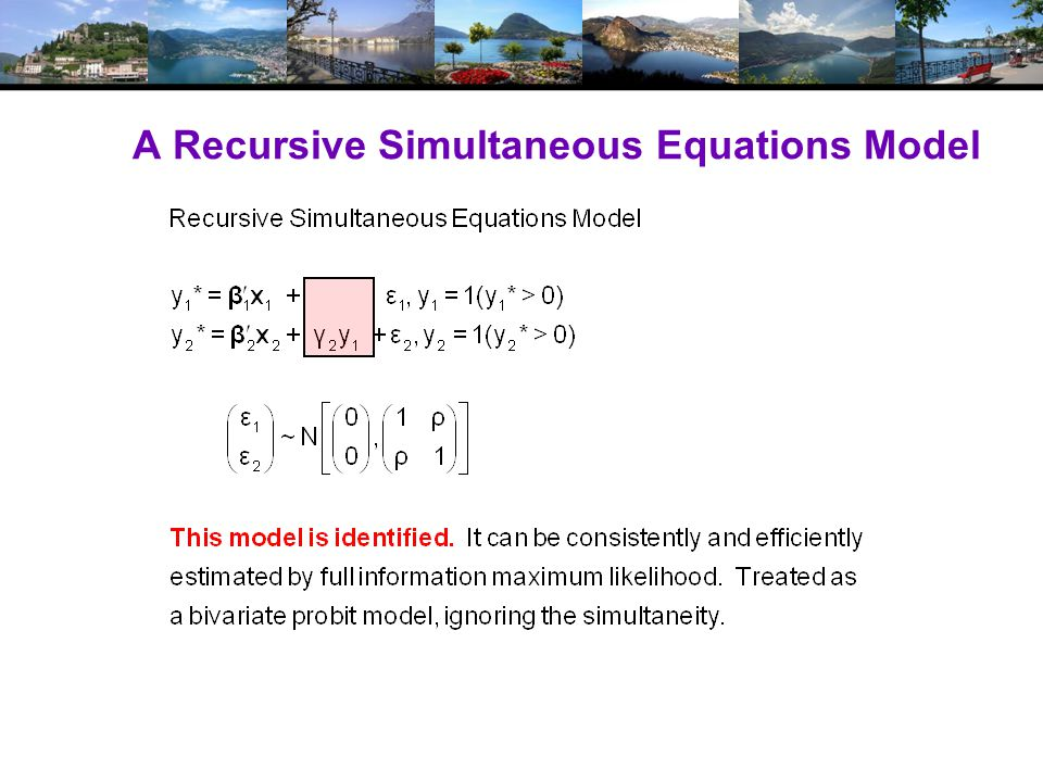 A Recursive Simultaneous Equations Model