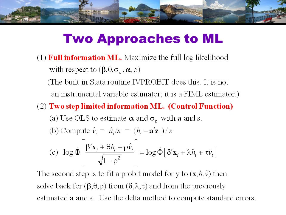Two Approaches to ML