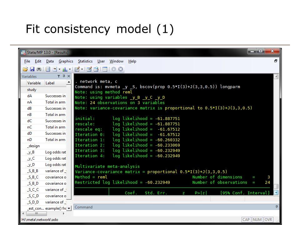 Fit consistency model (1) 18