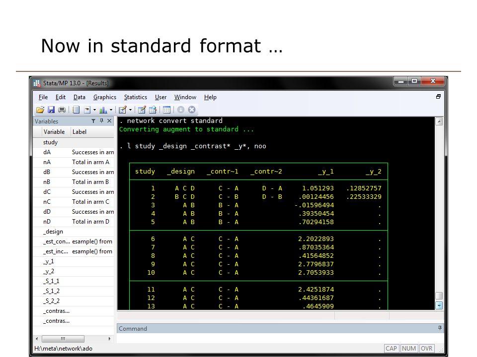 Now in standard format … 24