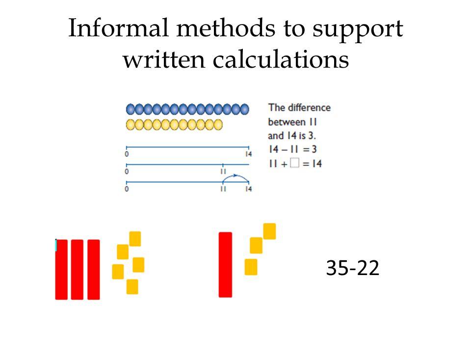 Informal methods to support written calculations 35-22