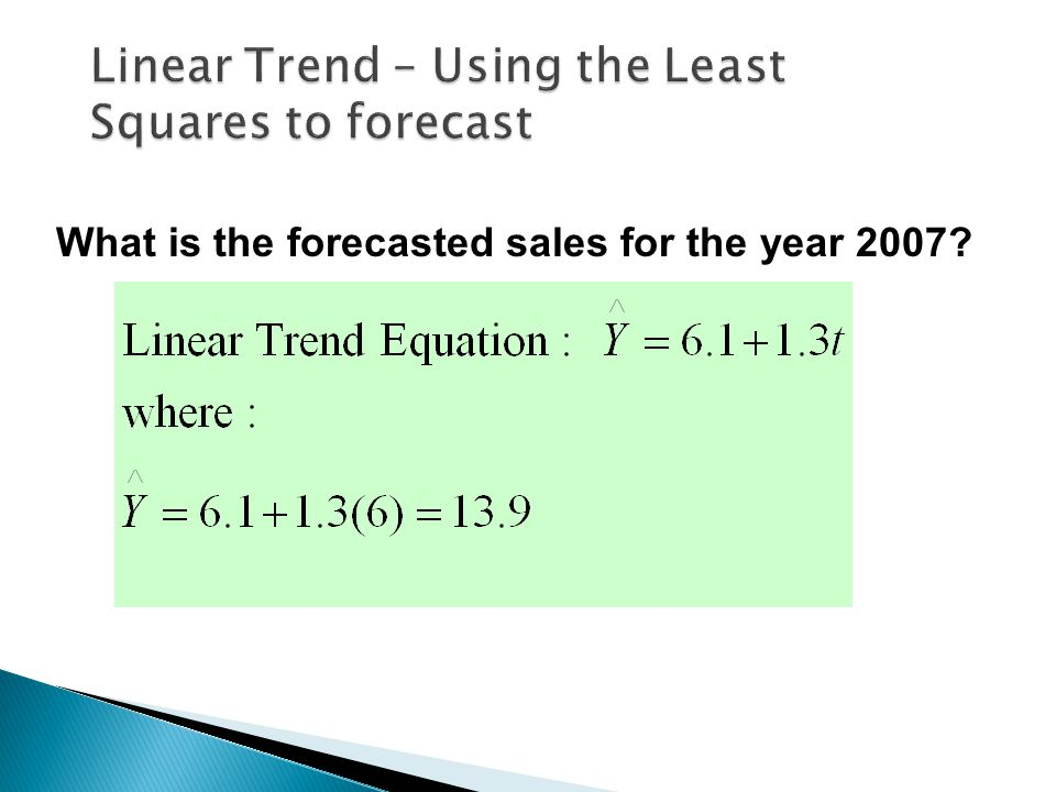 What is the forecasted sales for the year 2007