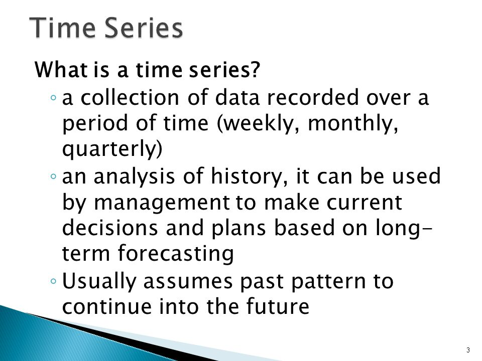 What is a time series.