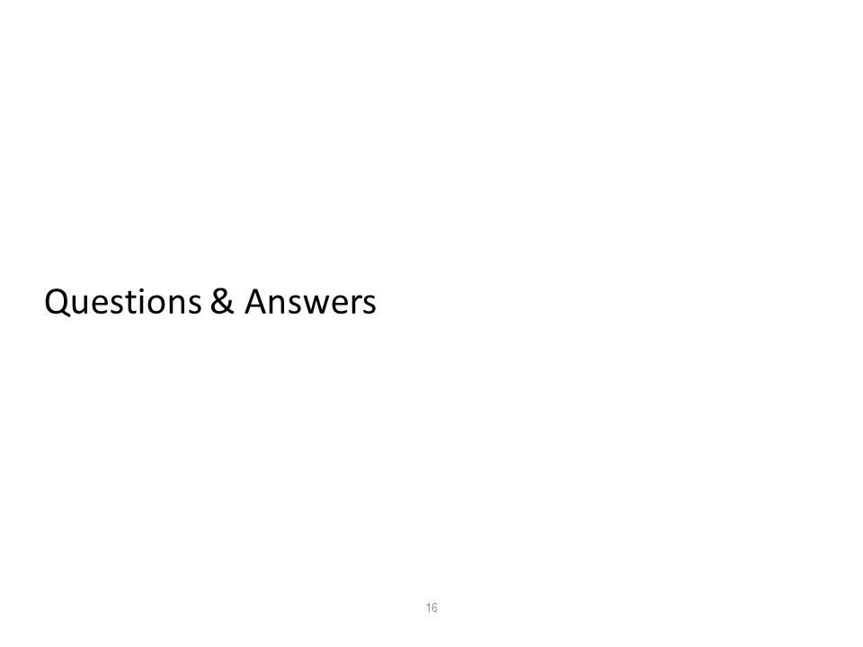 16 Questions & Answers