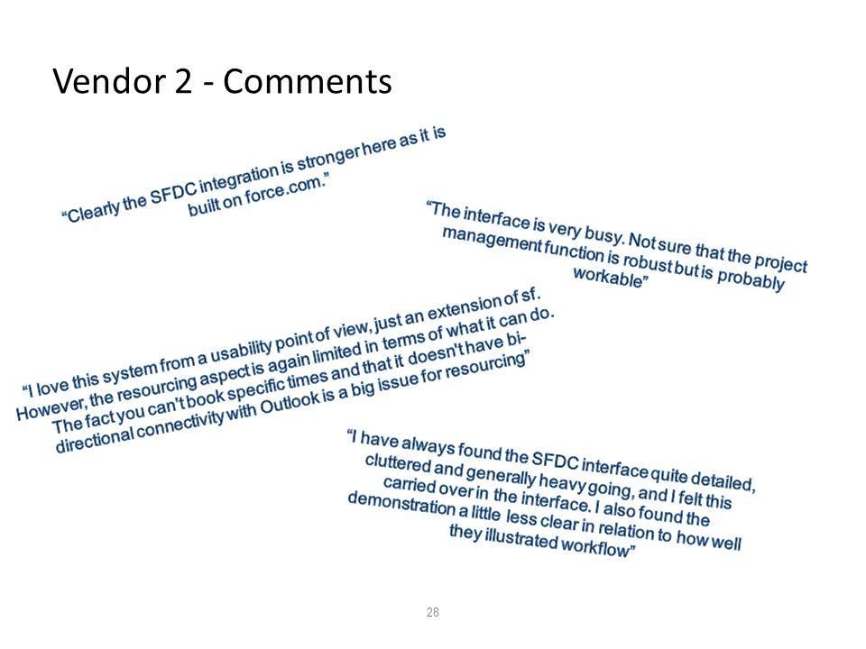 28 Vendor 2 - Comments