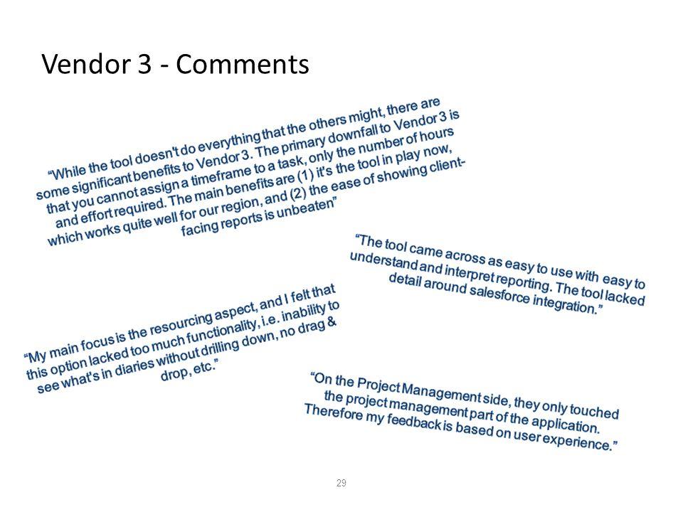 29 Vendor 3 - Comments