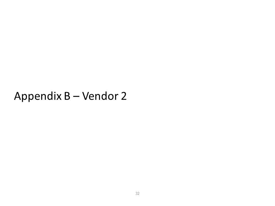 32 Appendix B – Vendor 2