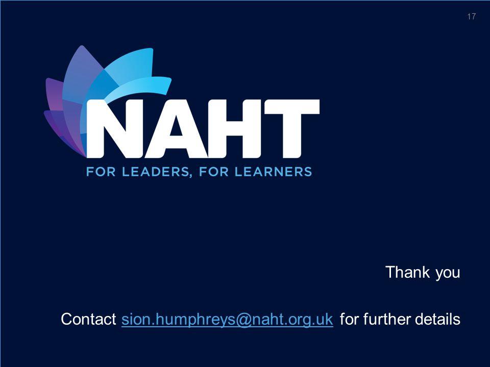 Thank you Contact sion.humphreys@naht.org.uk for further detailssion.humphreys@naht.org.uk 17