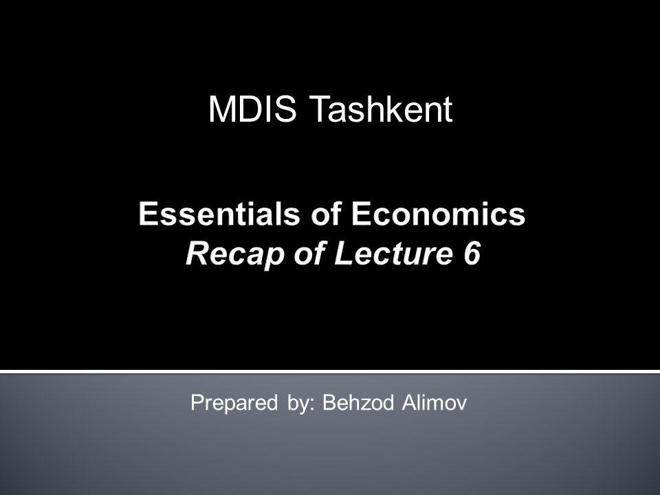 Prepared by: Behzod Alimov MDIS Tashkent