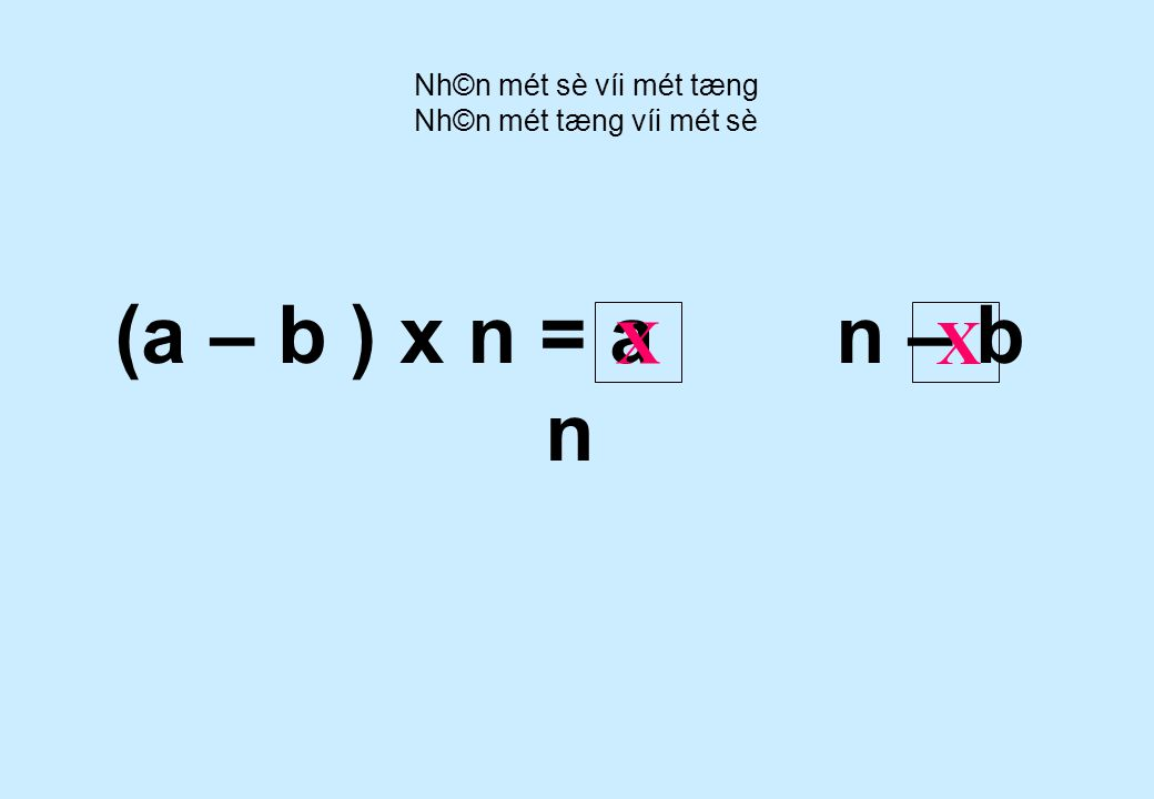 5 x ( 12 – 8 ) = 5 x 12 5 x 8 - Nh©n mét sè víi mét tæng Nh©n mét tæng víi mét sè