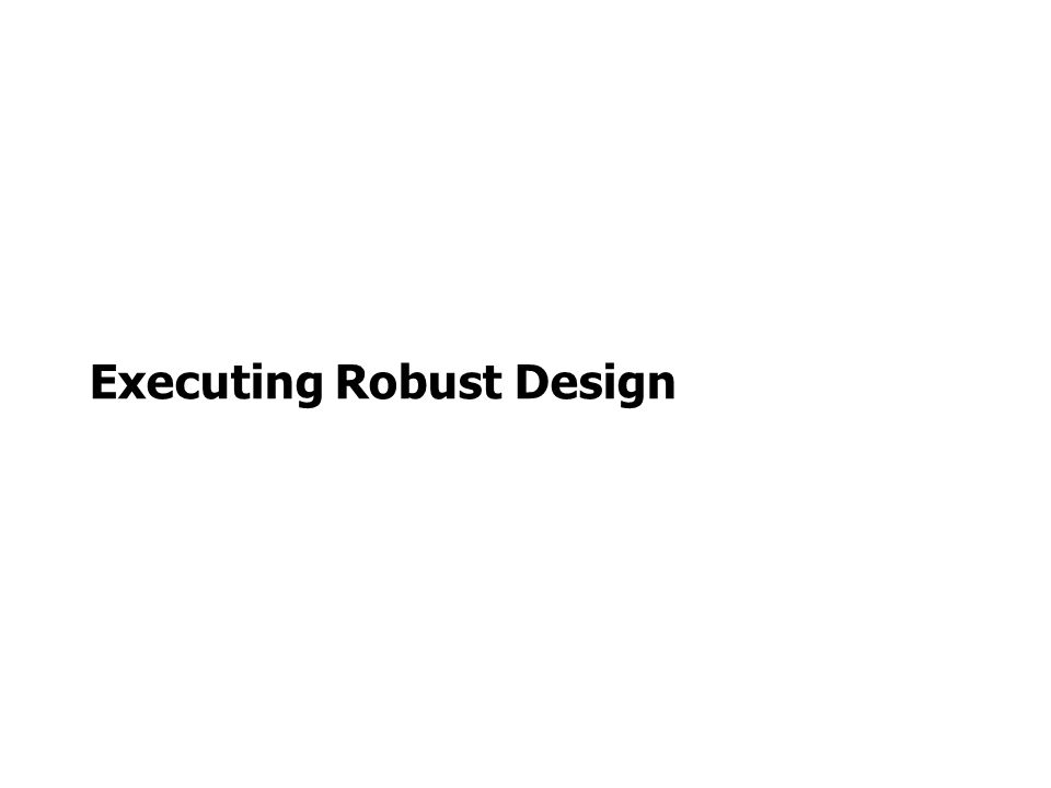 Executing Robust Design