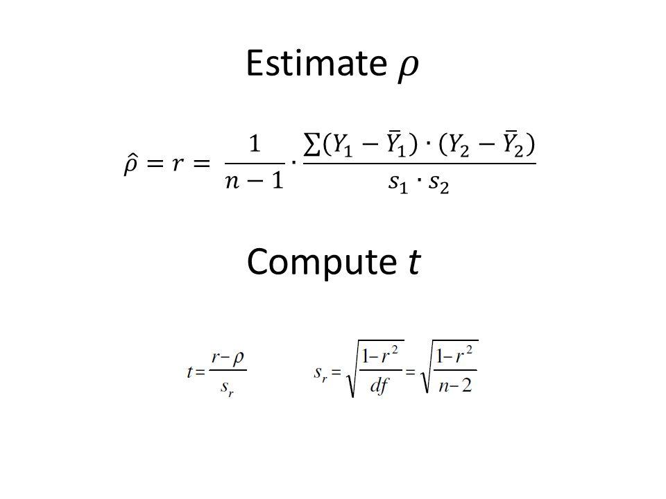 Compute t